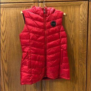 Bebe puffer vest with hood.